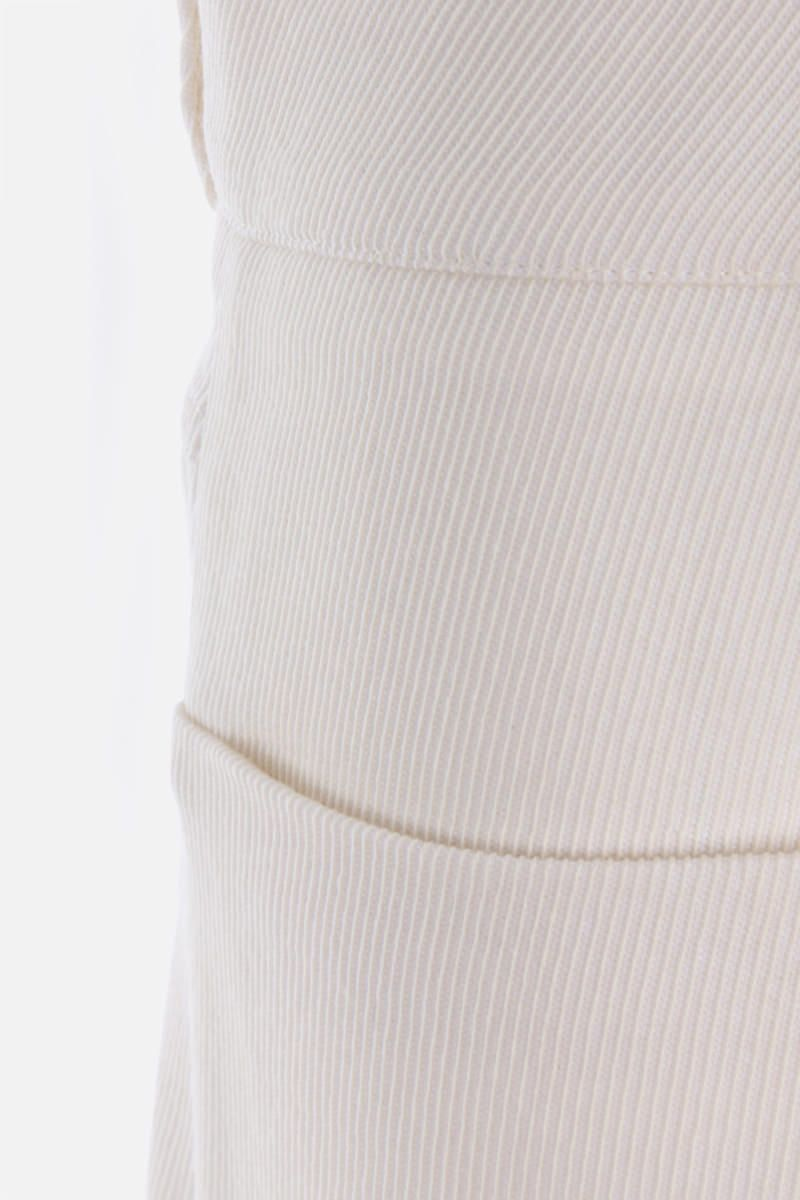 SARA LANZI: pantalone slouchy-fit in drill Colore White_3