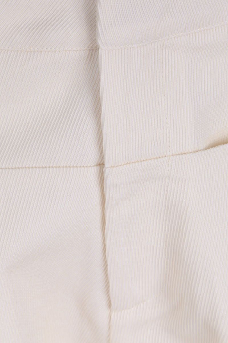 SARA LANZI: pantalone slouchy-fit in drill Colore White_4