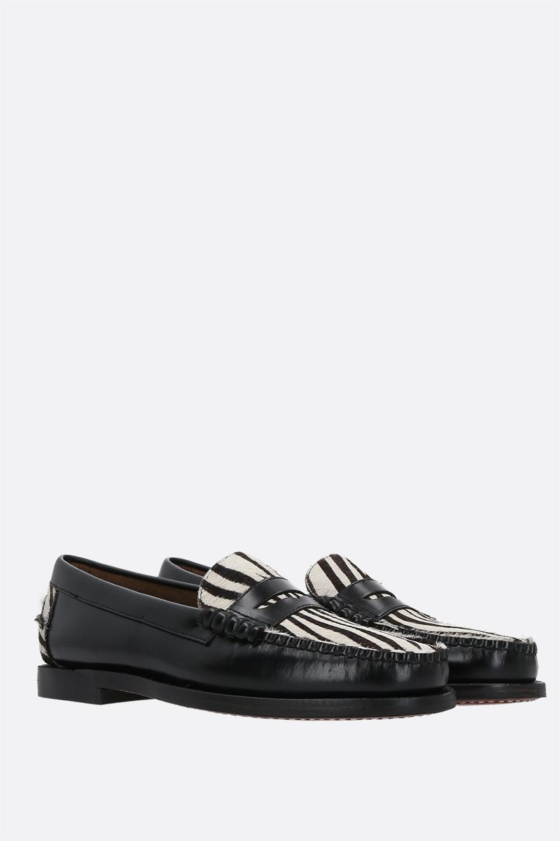 SEBAGO: Dan Vamp Wild smooth leather and pony hair loafers Color Animalier_2