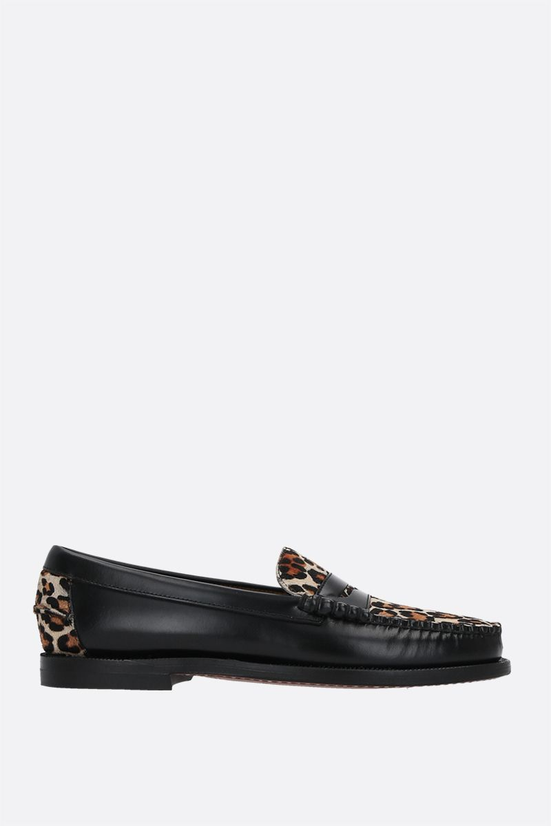 SEBAGO: Dan Vamp Wild smooth leather and pony hair loafers Color Animalier_1