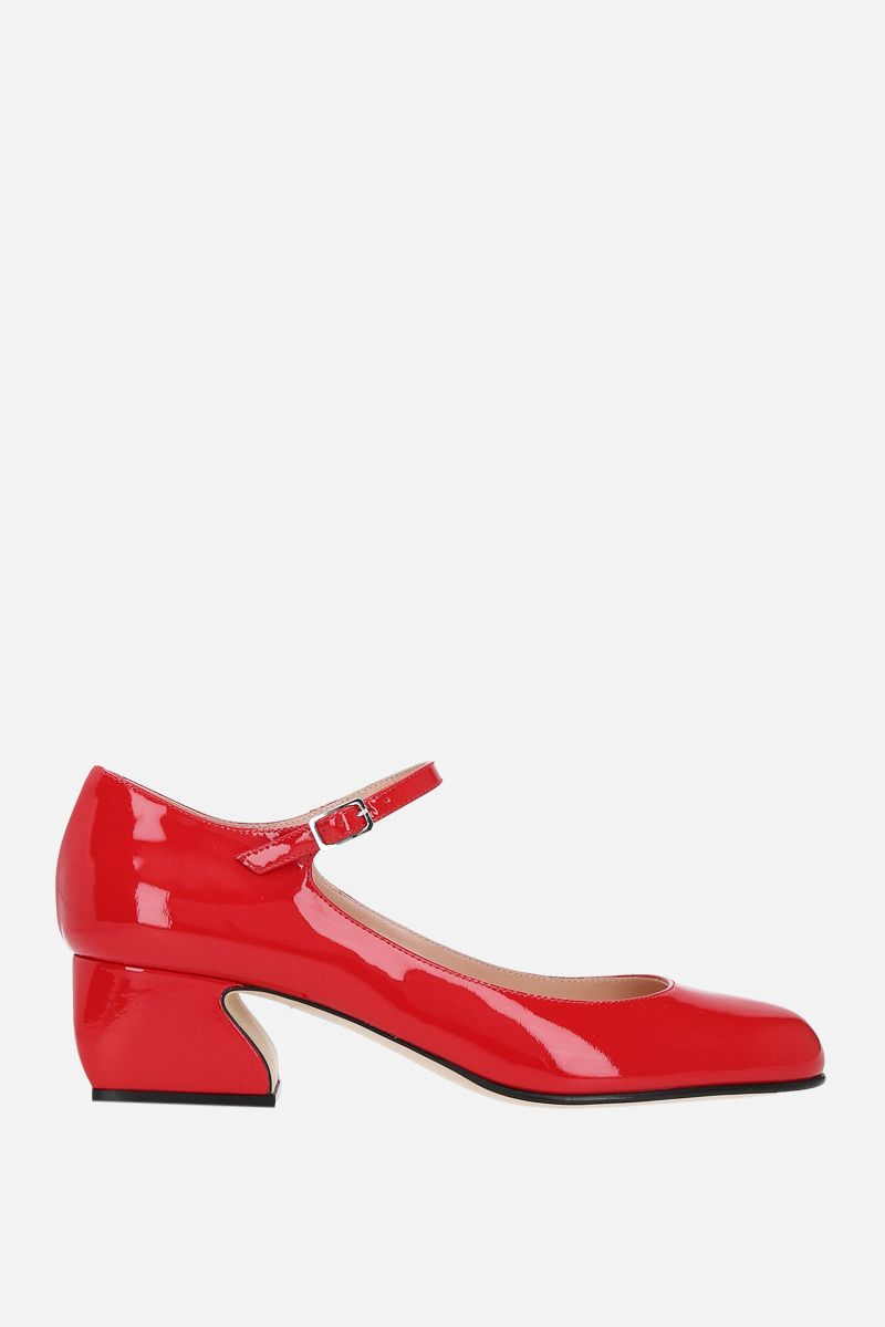 SI ROSSI: SI ROSSI patent leather mary-jane pumps Color Red_1
