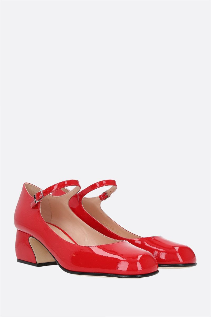 SI ROSSI: SI ROSSI patent leather mary-jane pumps Color Red_2
