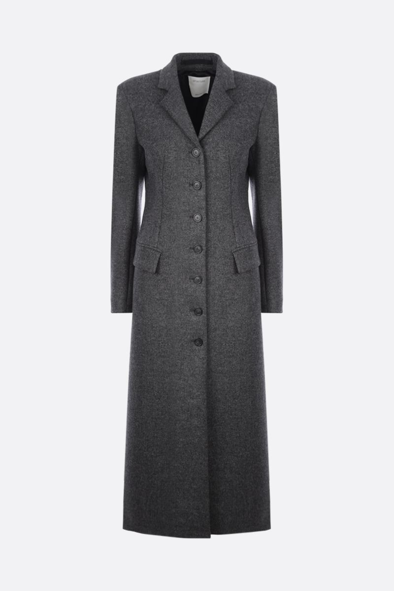 SPORTMAX: Aquile single-breasted wool coat Color Grey_1