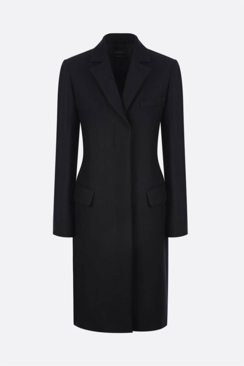 SPORTMAX: Guinev single-breasted technical wool coat Color Black_1