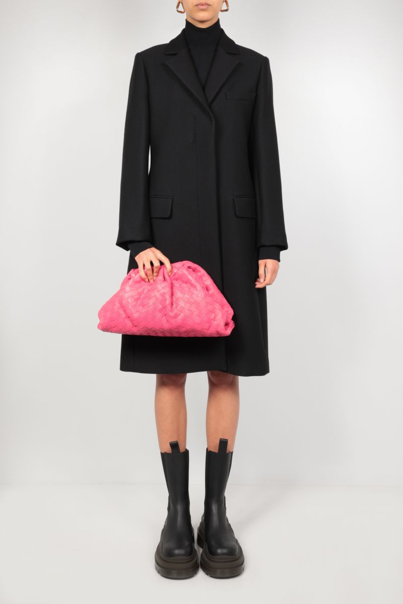 SPORTMAX: Guinev single-breasted technical wool coat Color Black_2