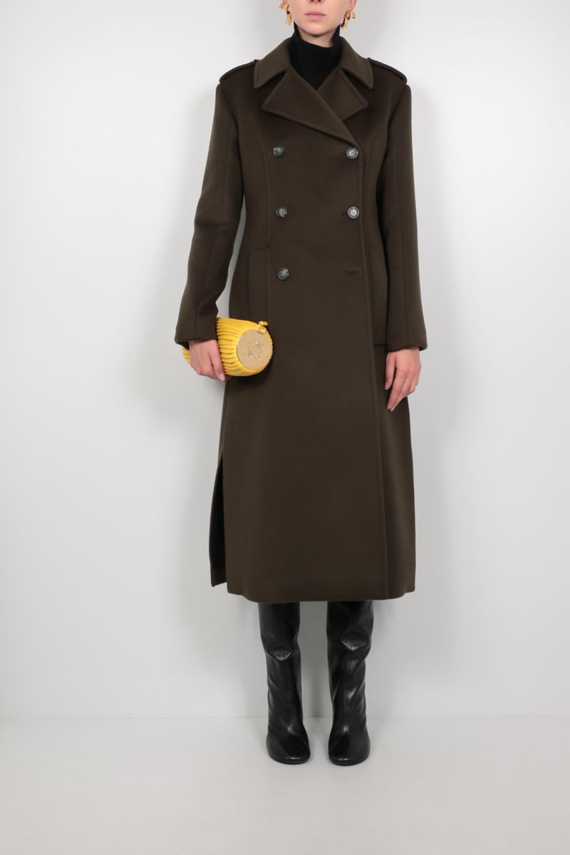 SPORTMAX: Caco double-breasted wool coat Color Green_2