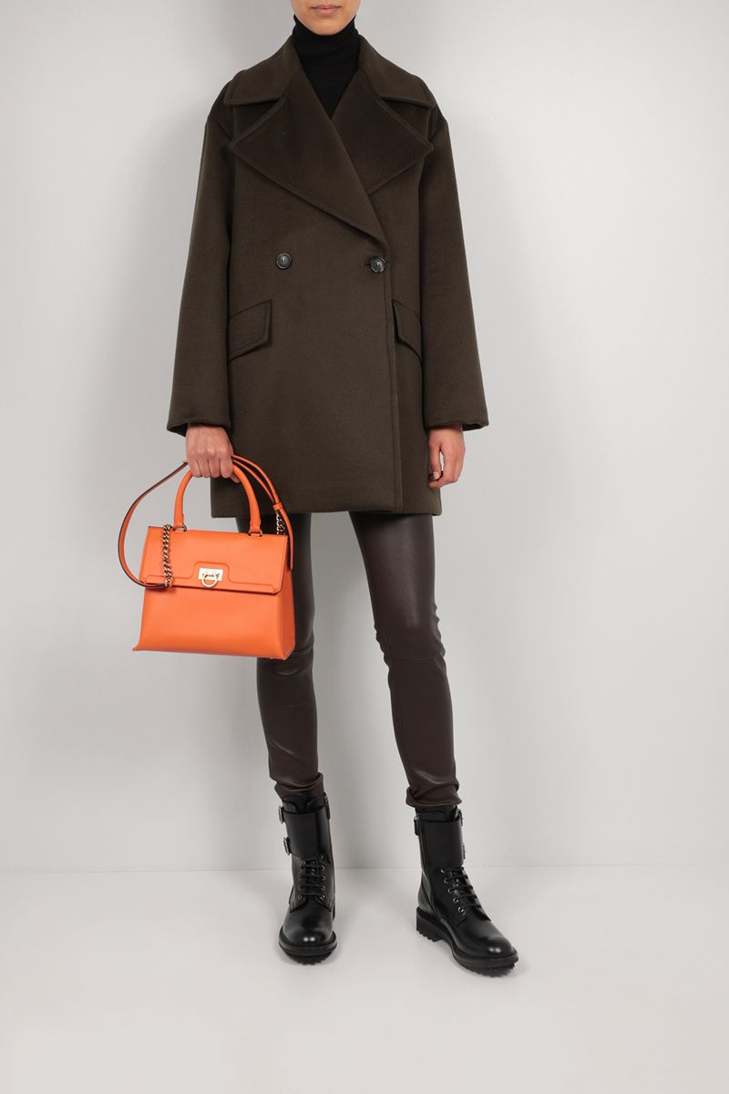 SPORTMAX: Austria double-breasted wool coat Color Green_2