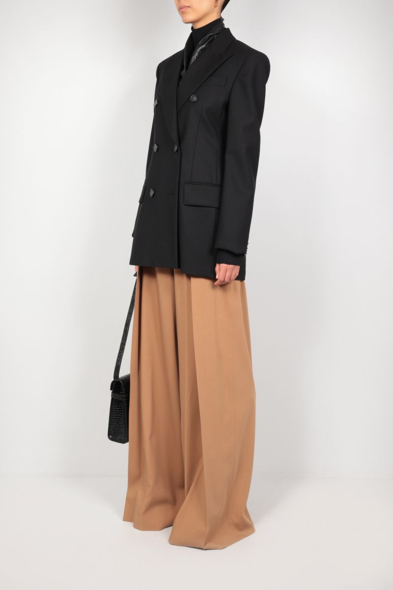 SPORTMAX: Canore double-breasted stretch wool jacket Color Black_2