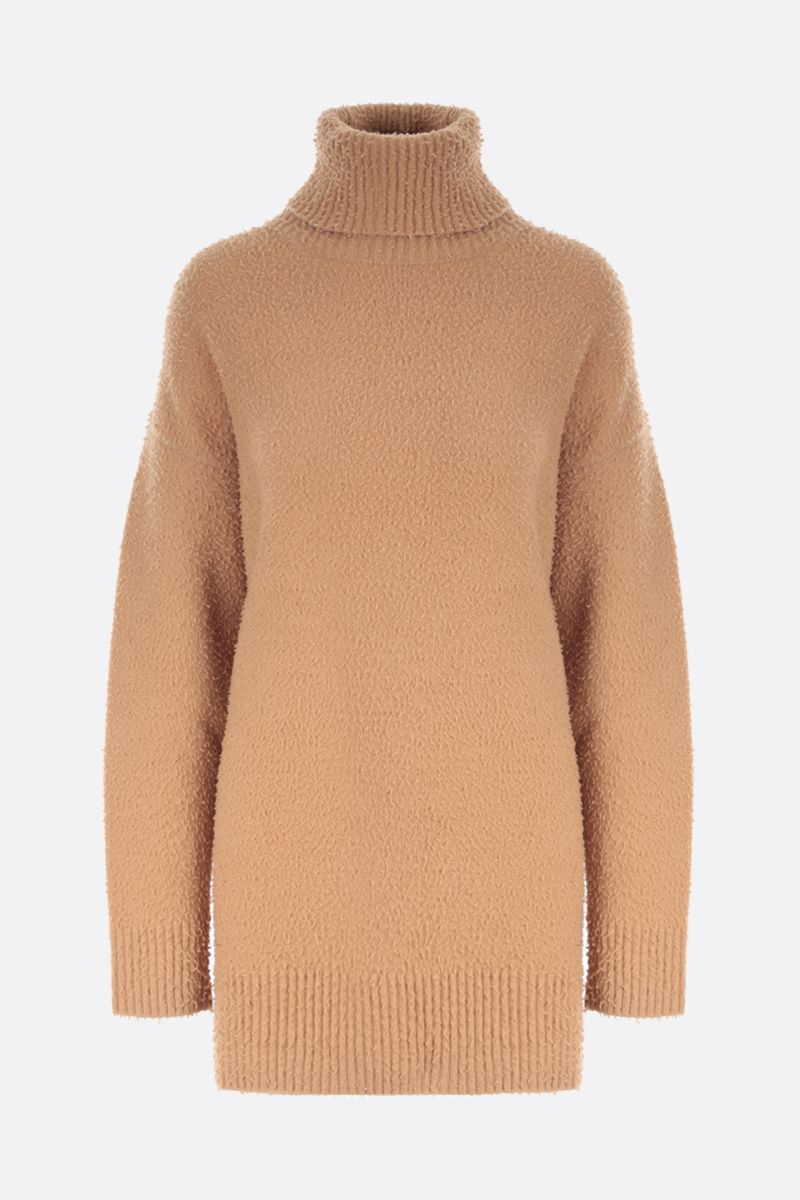 SPORTMAX: Unghia oversized stretch angora wool blend pullover Color Brown_1