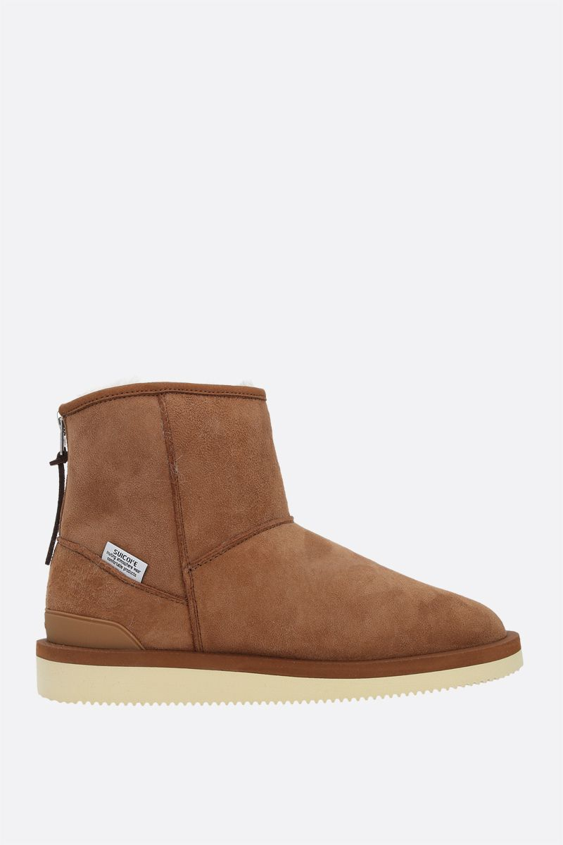SUICOKE: ELS-M2ab shearling ankle boots Color Brown_1