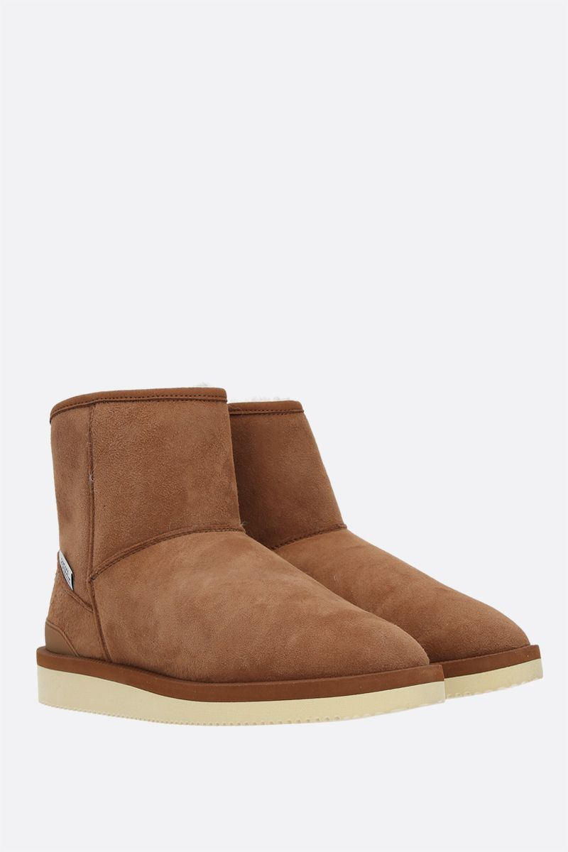 SUICOKE: ELS-M2ab shearling ankle boots Color Brown_2