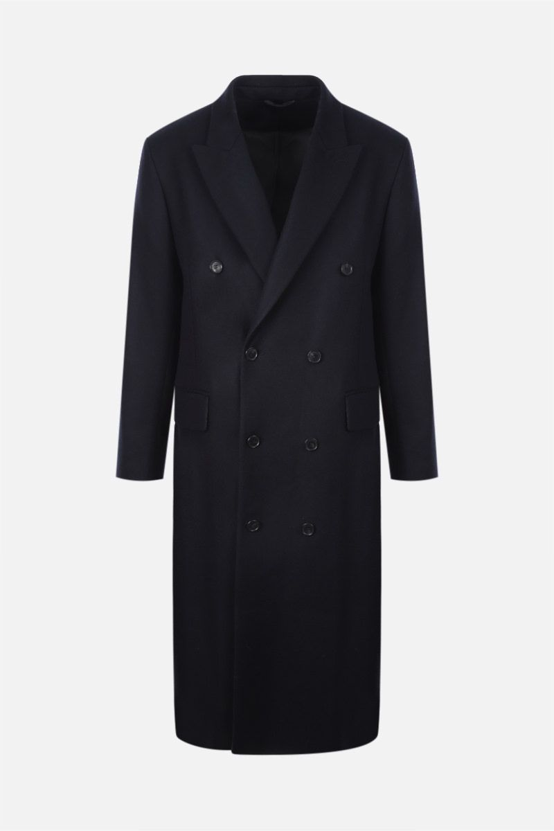 SUNFLOWER: double-breasted wool blend coat Color Blue_1