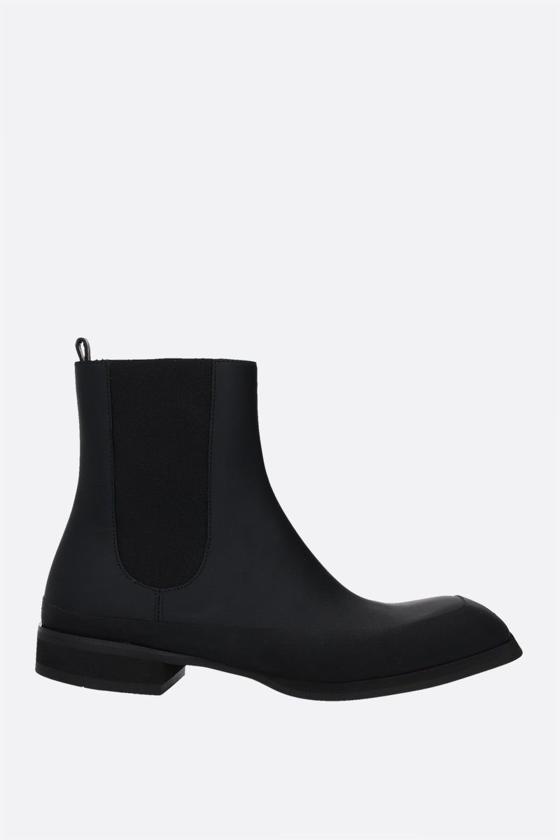 THE ROW: Garden rubberized leather ankle boots Color Black_1