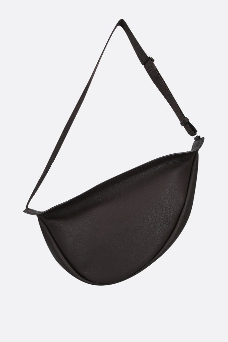 THE ROW: Slouchy Banana large grainy leather shoulder bag Color Brown_1