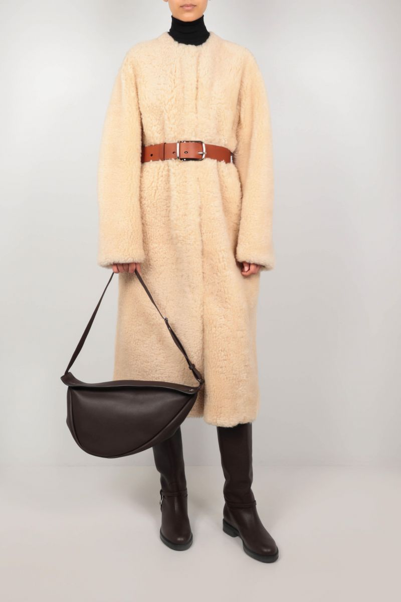 THE ROW: Slouchy Banana large grainy leather shoulder bag Color Brown_2