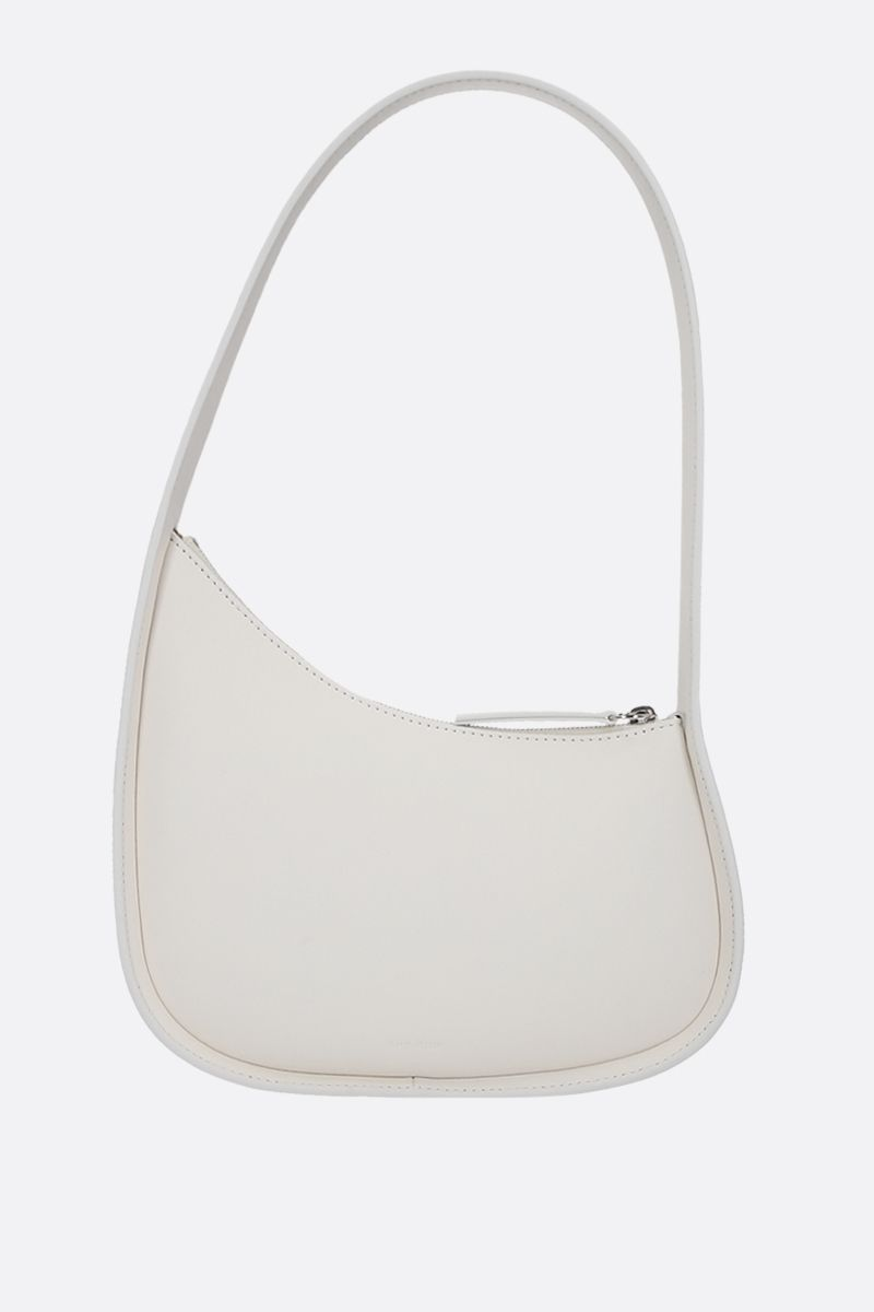 THE ROW: Half Moon smooth leather shoulder bag Color White_1