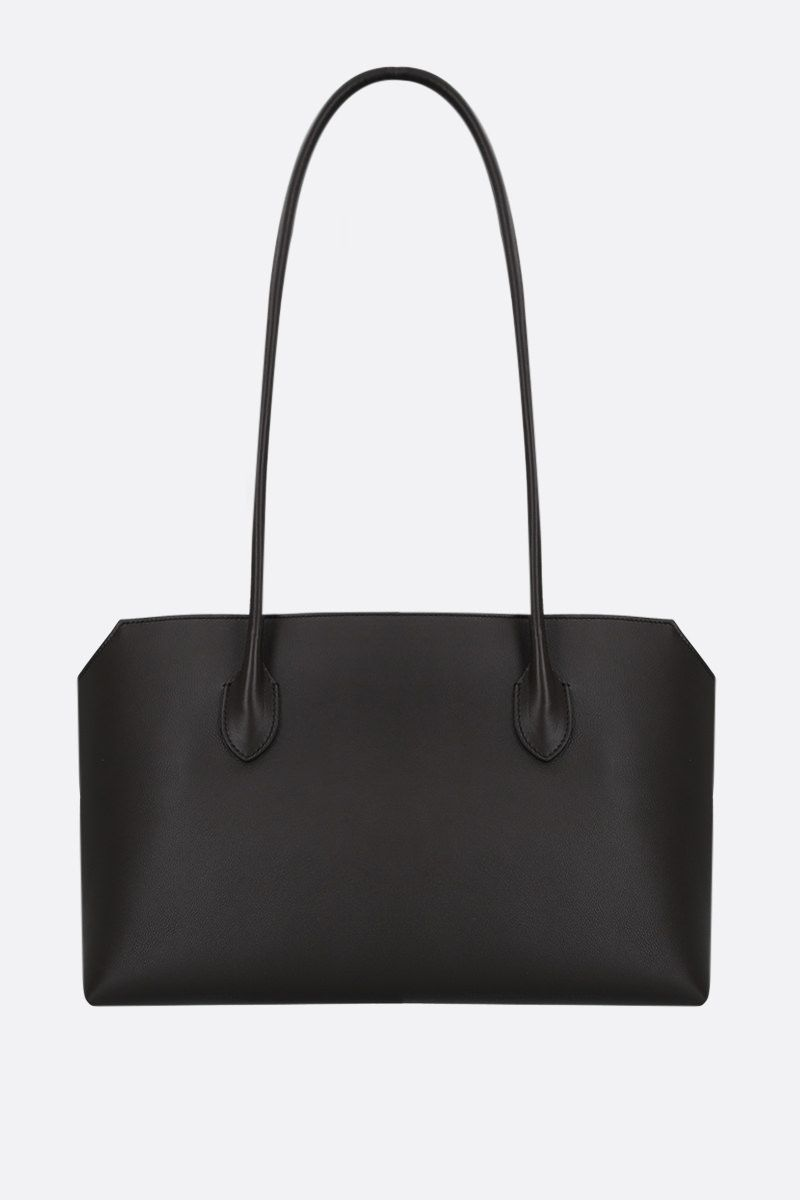 THE ROW: Terrasse grainy leather shoulder bag Color Brown_1