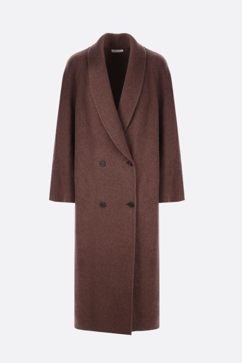 THE ROW: Fleur double-breasted cashmere wool blend coat Color Green_1