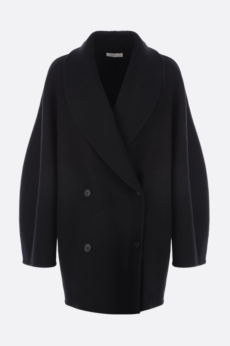THE ROW: Polli double-breasted wool blend coat Color Black_1