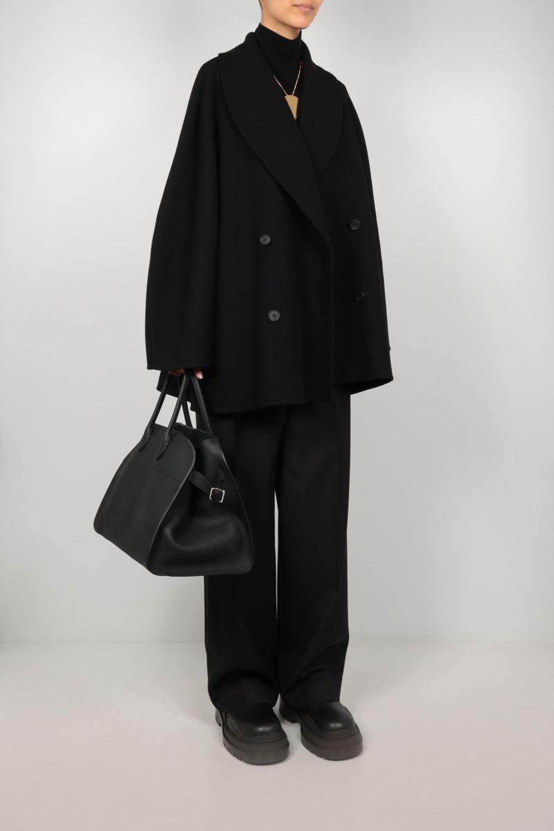 THE ROW: Polli double-breasted wool blend coat Color Black_2