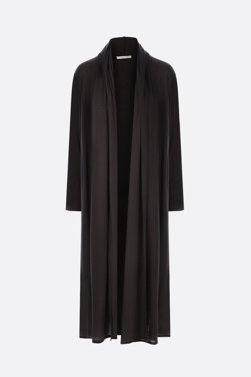 THE ROW: Doppo cashmere blend long cardigan Color Brown_1