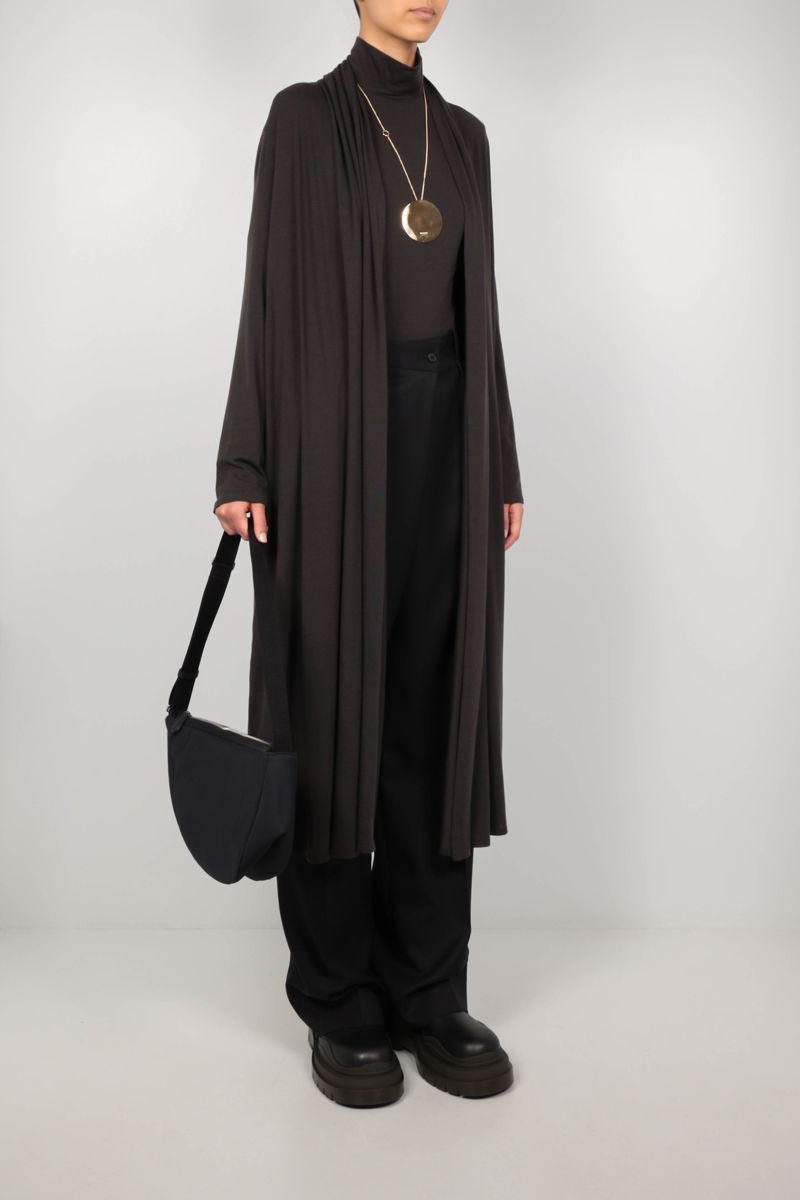 THE ROW: Doppo cashmere blend long cardigan Color Brown_2
