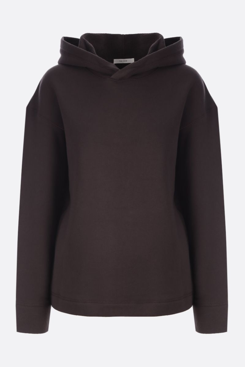 THE ROW: Deugene organic cotton hoodie Color Brown_1