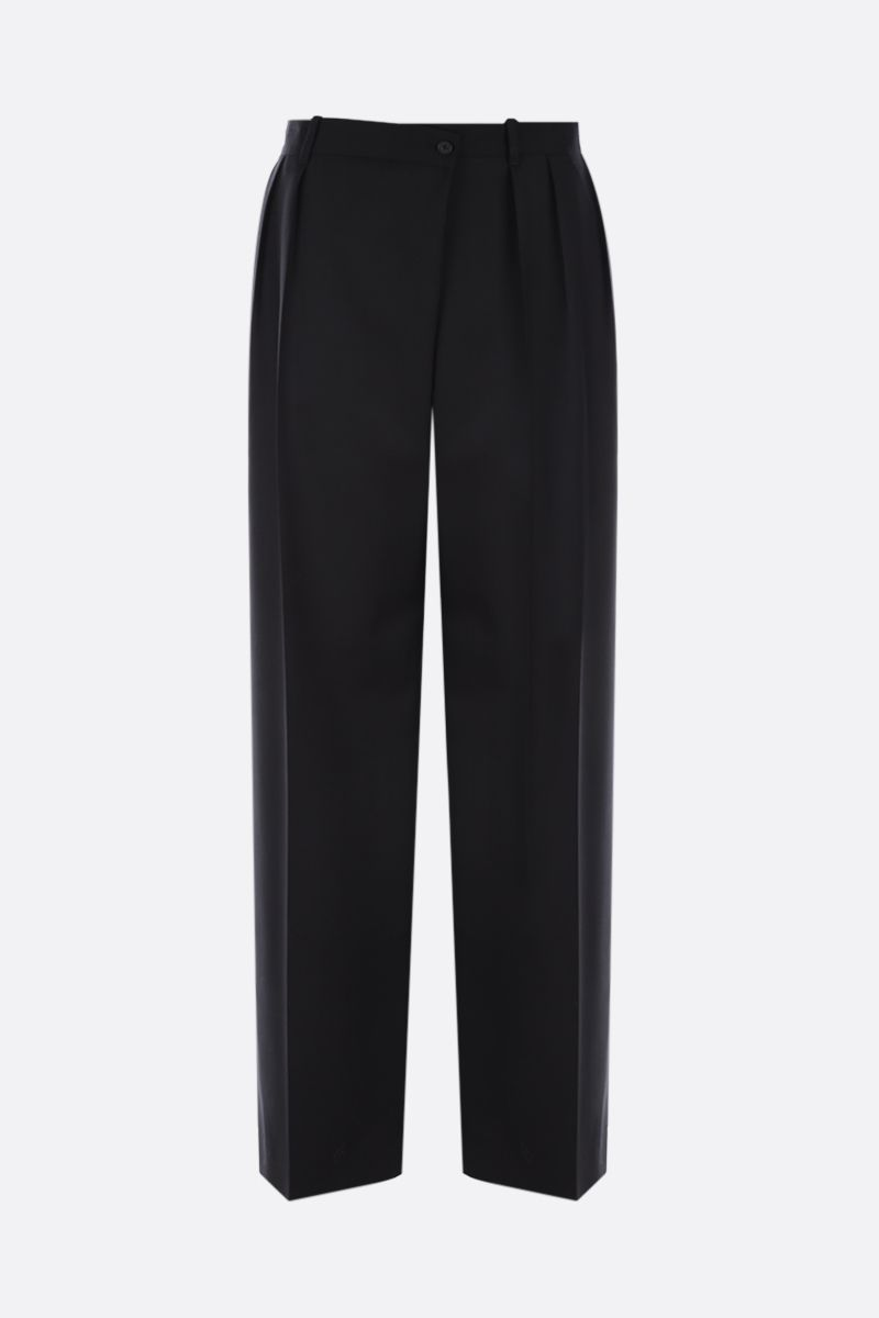 THE ROW: Willow wide-leg wool pants Color Black_1