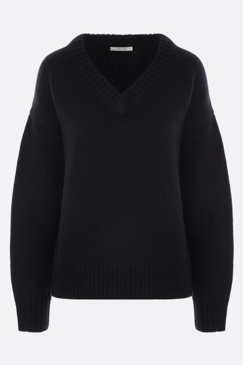 THE ROW: Davion cashmere wool blend pullover Color Black_1