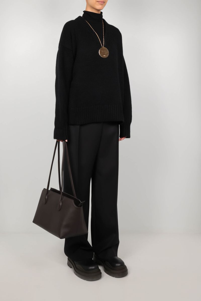 THE ROW: Davion cashmere wool blend pullover Color Black_2
