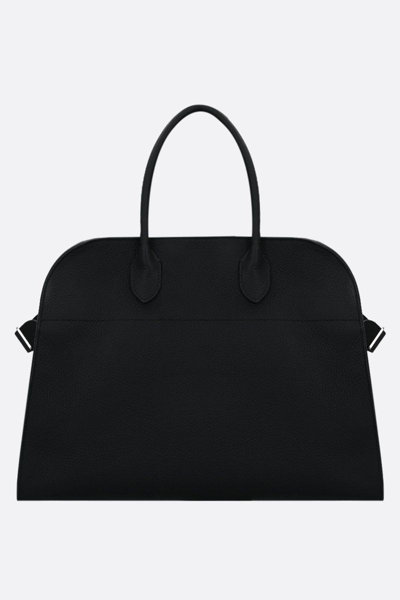 THE ROW: Soft Margaux 15 grainy leather tote bag Color Black_1