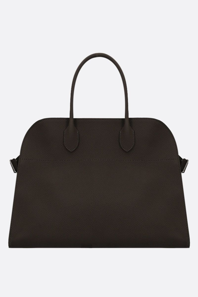 THE ROW: Soft Margaux 15 grainy leather tote bag Color Grey_1