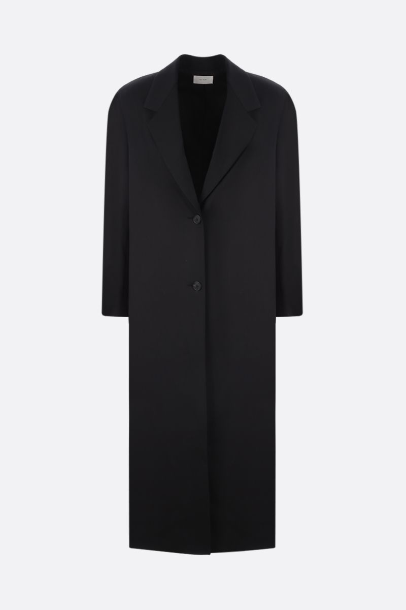 THE ROW: Maeve wool overcoat Color Black_1