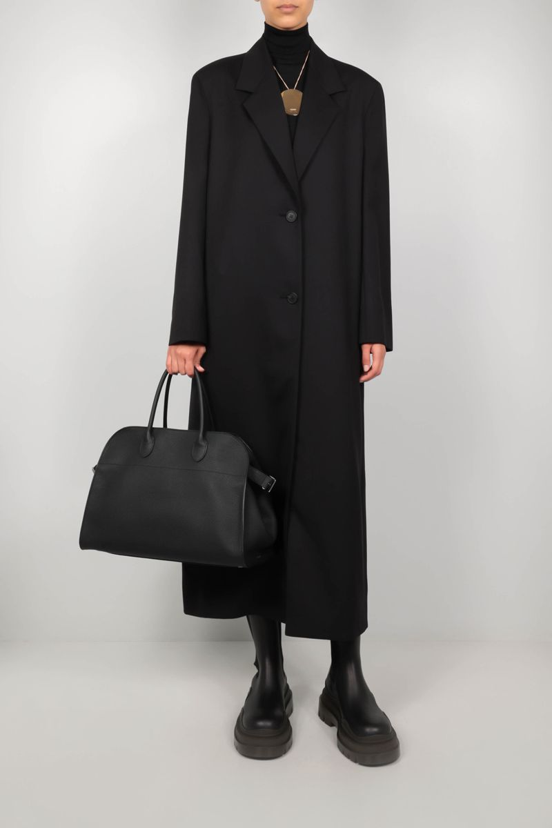 THE ROW: Maeve wool overcoat Color Black_2
