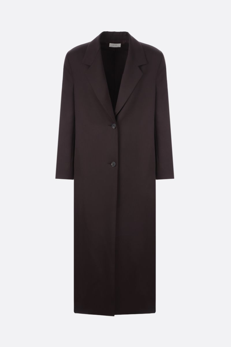 THE ROW: Maeve wool overcoat Color Brown_1
