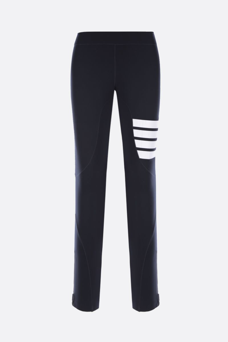 THOM BROWNE: 4-bar-detailed technical fabric leggings Color Blue_1