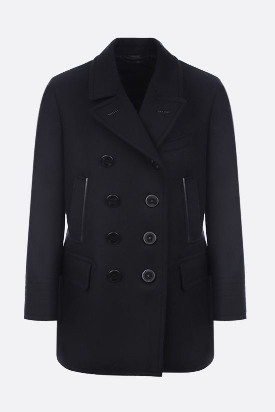 TOM FORD: cashmere wool blend double-breasted coat Color Black_1