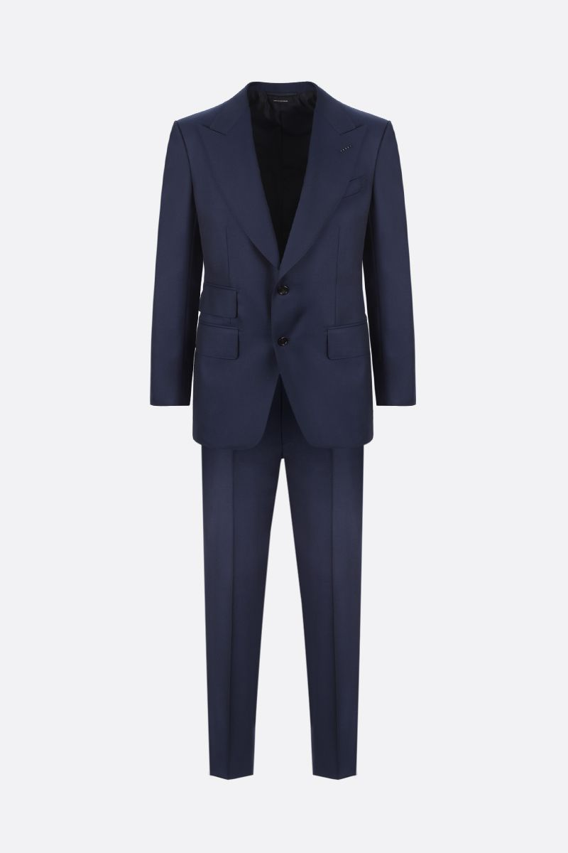 TOM FORD: wool two-piece suit Color Blue_1