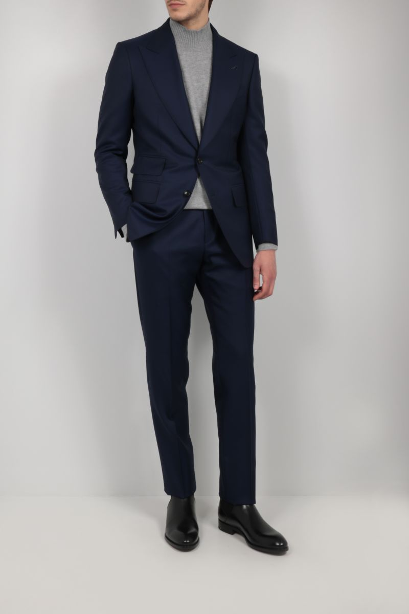 TOM FORD: wool two-piece suit Color Blue_2