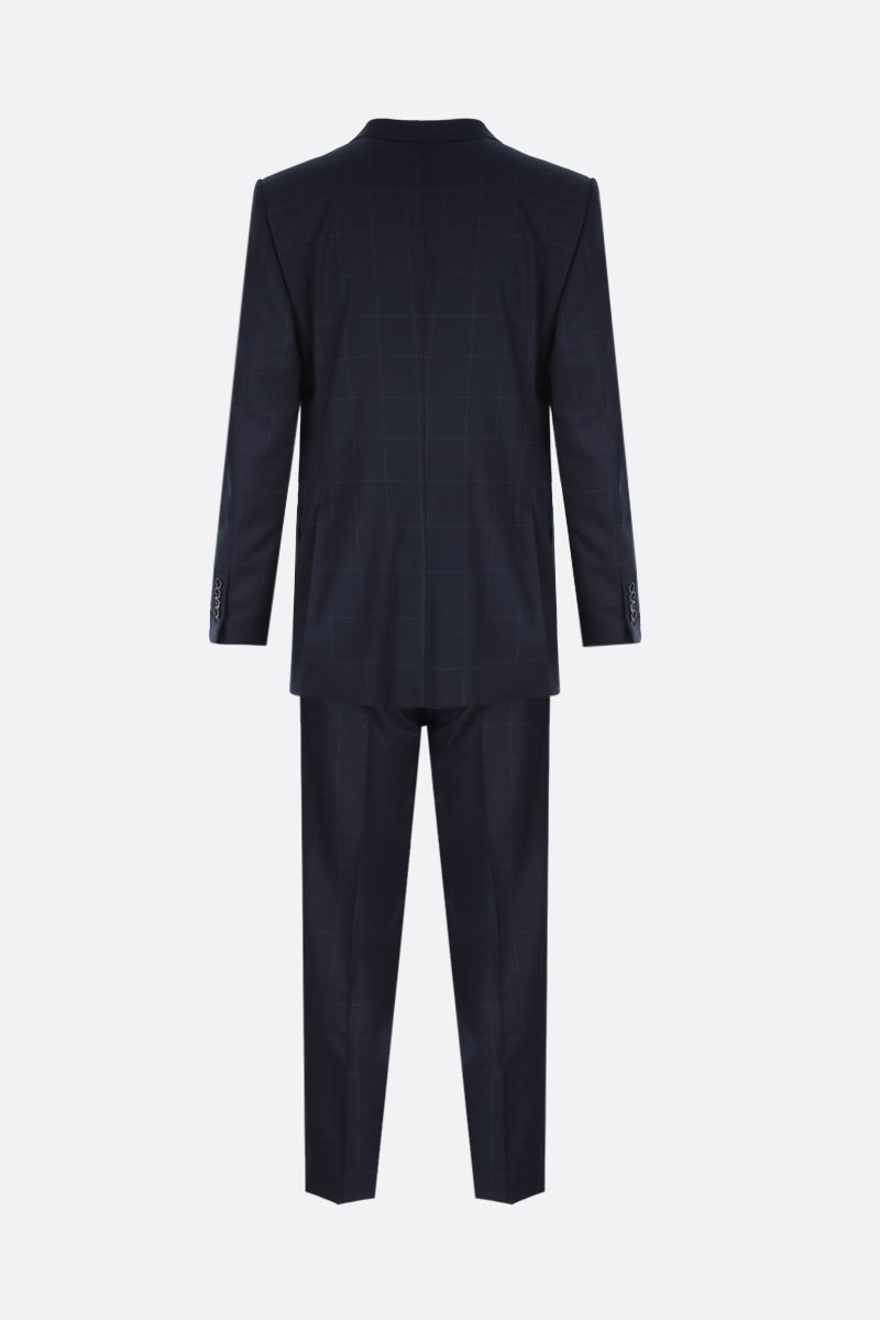 TOM FORD: check wool two-piece suit Color Blue_2