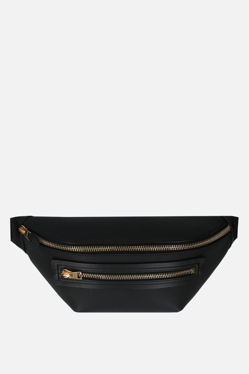 TOM FORD: grainy leather belt bag Color Black_1