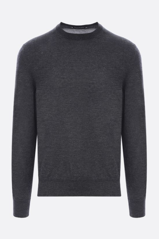 TOM FORD: silk cashmere blend pullover Color Grey_1