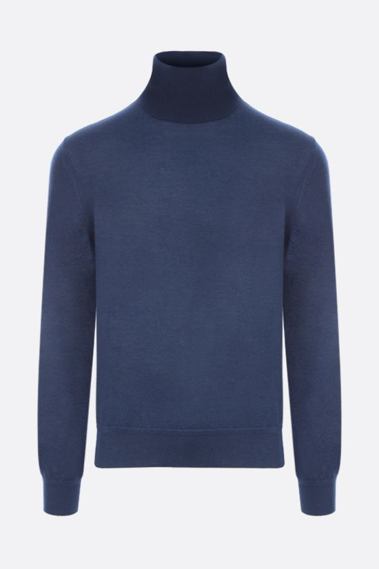 TOM FORD: silk cashmere blend pullover Color Blue_1