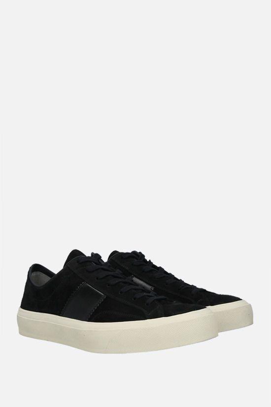TOM FORD: Cambridge suede sneakers Color Black_2