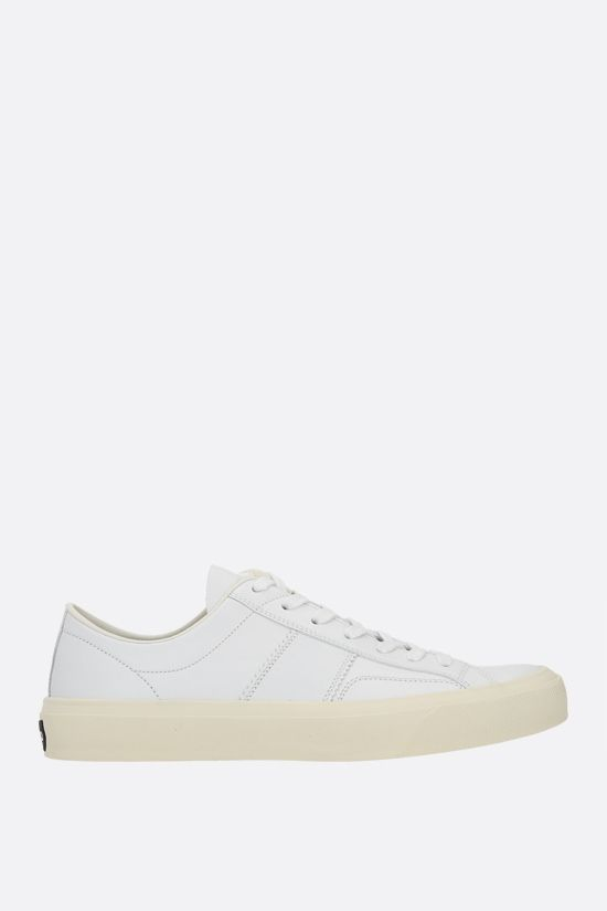 TOM FORD: Cambridge smooth leather sneakers Color White_1