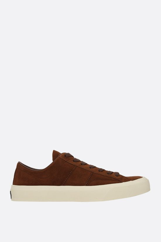 TOM FORD: Cambridge suede sneakers Color Brown_1