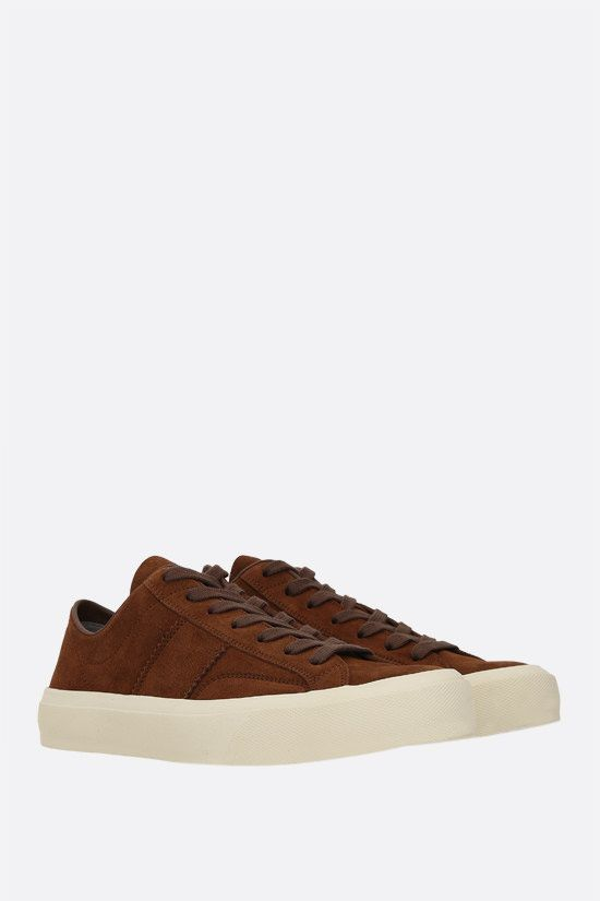 TOM FORD: Cambridge suede sneakers Color Brown_2
