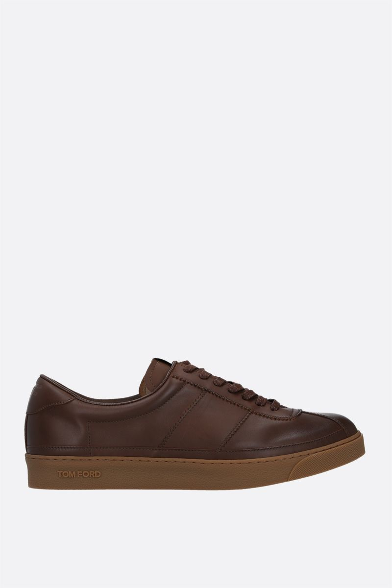 TOM FORD: Bannister smooth leather sneakers_1