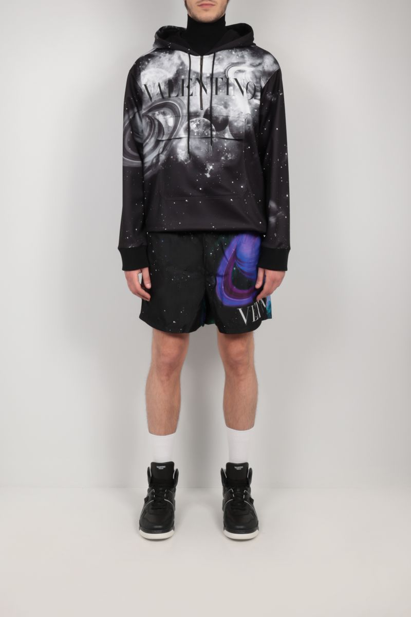 VALENTINO: Galaxenctric jersey hoodie Color White_2