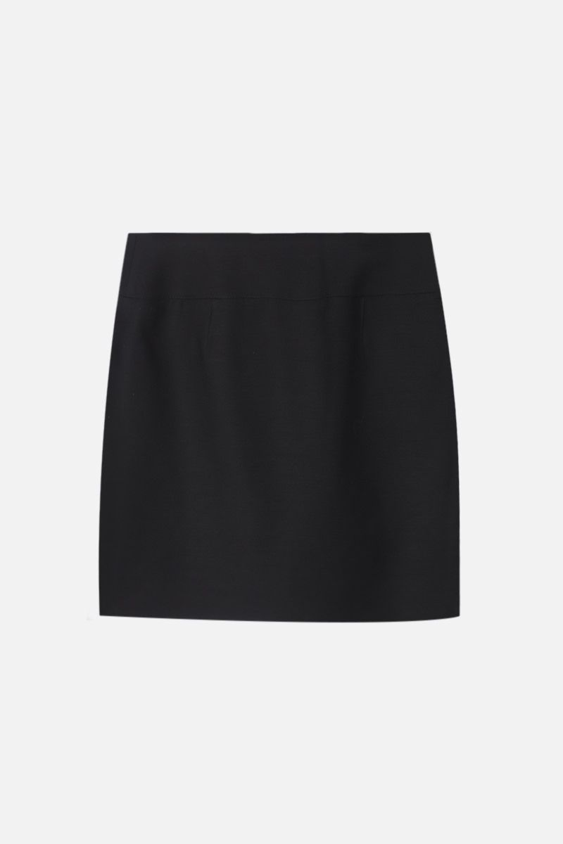 VALENTINO: buttoned Crepe Couture miniskirt Color Black_2